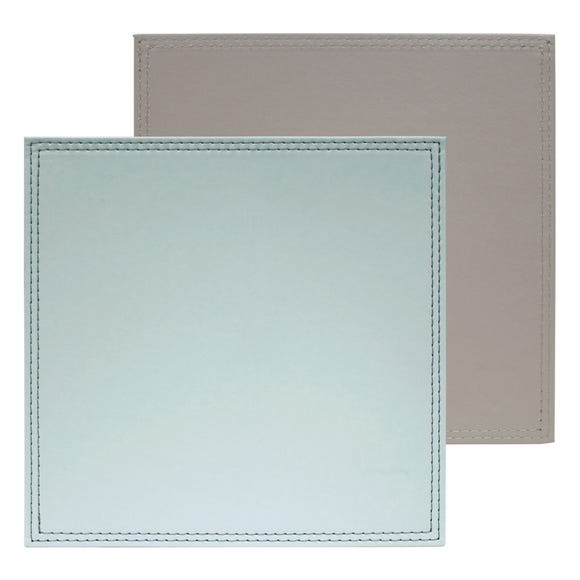 Country Heart Pack of 4 Faux Leather Placemats Multi Coloured