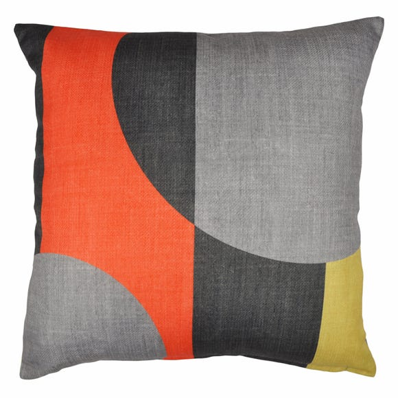 Elements Blocks Orange Cushion Orange