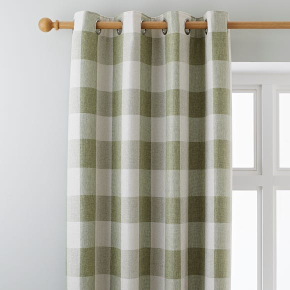 Skye Green Eyelet Curtains Green undefined