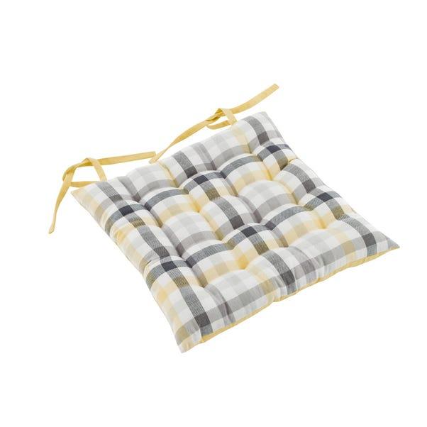 Square Ochre Seat Pad Ochre (Yellow)