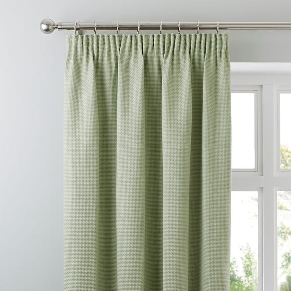 Kendall Green Pencil Pleat Curtains Green undefined