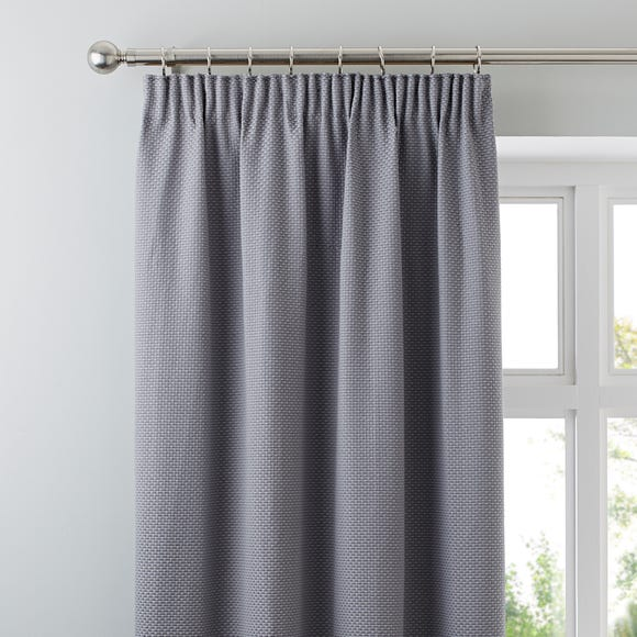 Kendall Grey Pencil Pleat Curtains  undefined