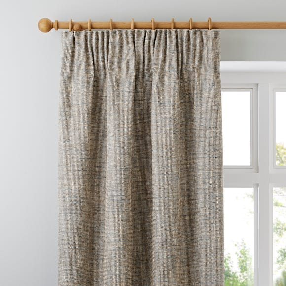 Thornton Blue Pencil Pleat Curtains  undefined