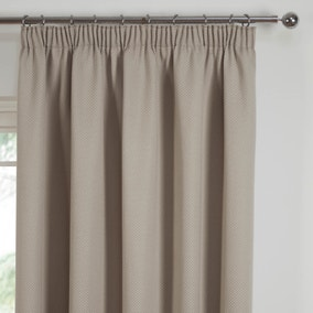 Kendall Natural Pencil Pleat Curtains
