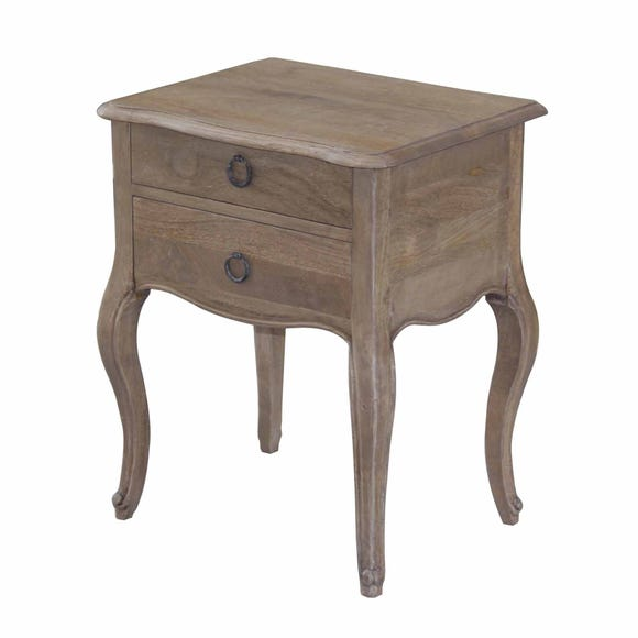 Amelie 2 Drawer Bedside Table Brown