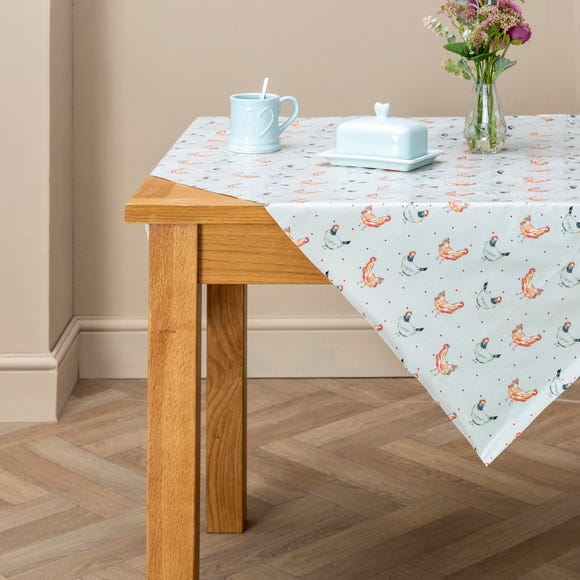 Country Hens PVC Tablecloth Grey undefined