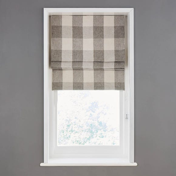 Skye Natural Lined Roman Blind  undefined