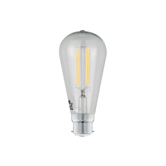 Dunelm 6 Watt BC LED Filament ST64 Bulb Clear