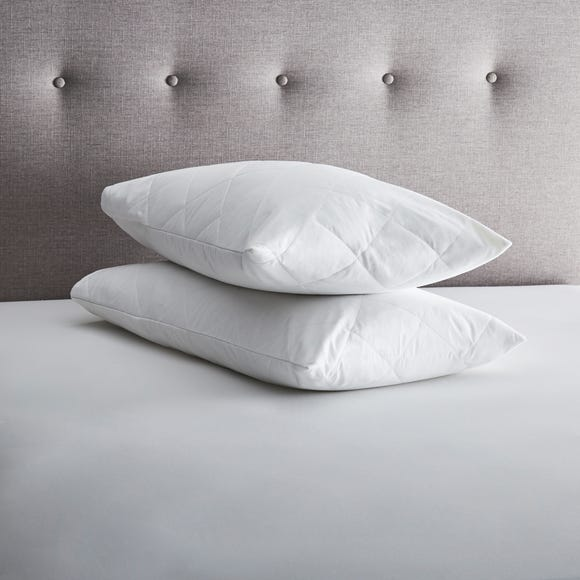 Fogarty Perfectly Washable Pillow Protector Pair White
