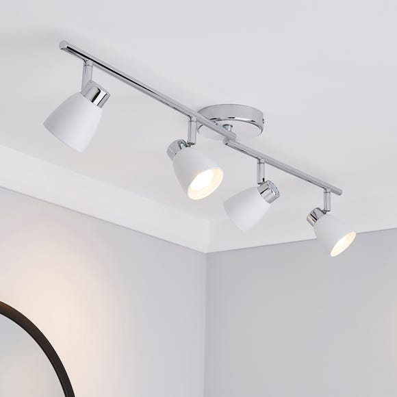 Alto 4 Light Matt White Spotlight Bar White