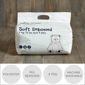 Fogarty Little Sleepers Soft Touch Star 4 Tog Duvet and Pillow Set
