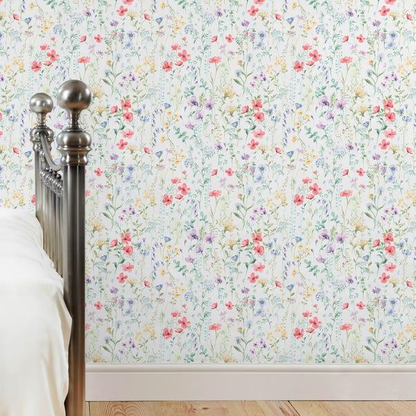 Dorma Wildflowers Wallpaper MultiColoured