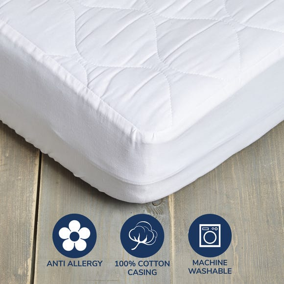 Fogarty Little Sleepers Anti Allergy Quilted Mattress Protector White