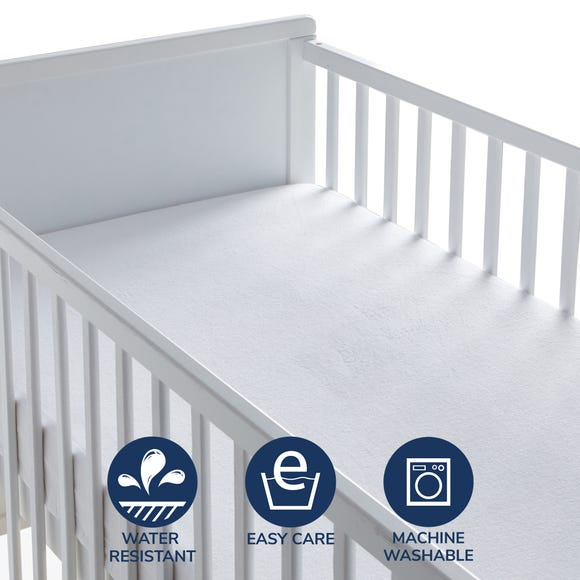 Fogarty Little Sleepers Terry Waterproof Mattress Protector White undefined