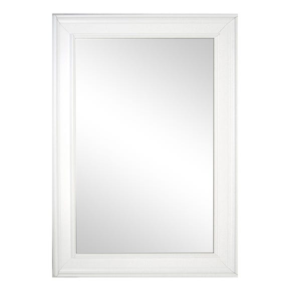 Bevelled Wall Mirror 91x66cm White White undefined