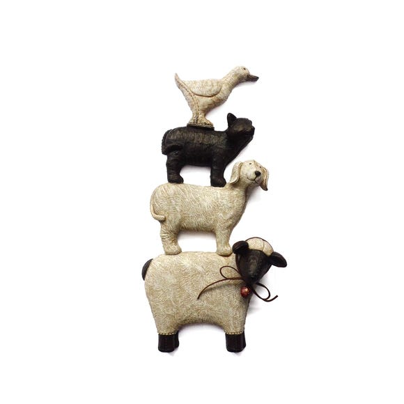 Stacking Animals Wall Art Multi