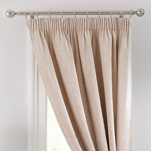 Chenille Cream Thermal Pencil Pleat Door Curtain Cream undefined