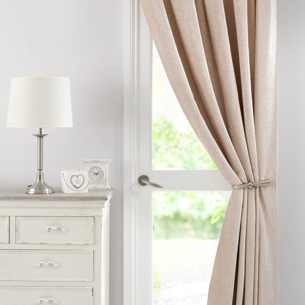 Chenille Cream Thermal Pencil Pleat Door Curtain  undefined