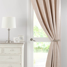 Chenille Cream Thermal Pencil Pleat Door Curtain