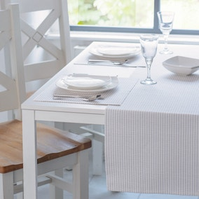 Set Of Two Purity Blue And White Ribbed Placemats