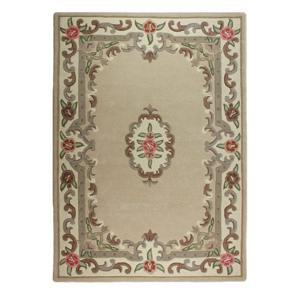 Lotus Premium Aubusson Rug Aubusson Fawn (Yellow) undefined