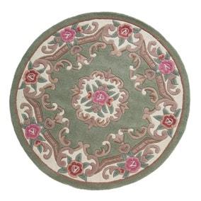 Lotus Premium Aubusson Circle Rug