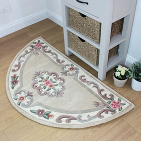 Lotus Premium Aubusson Half Circle Rug