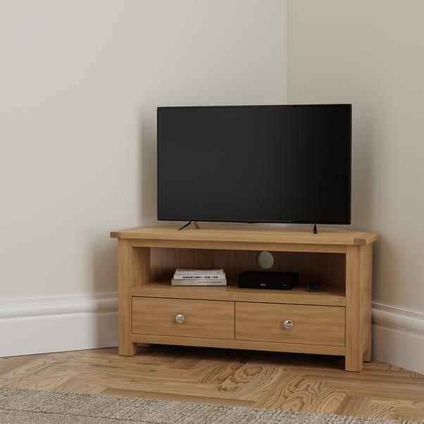 Bromley Oak Corner TV Stand