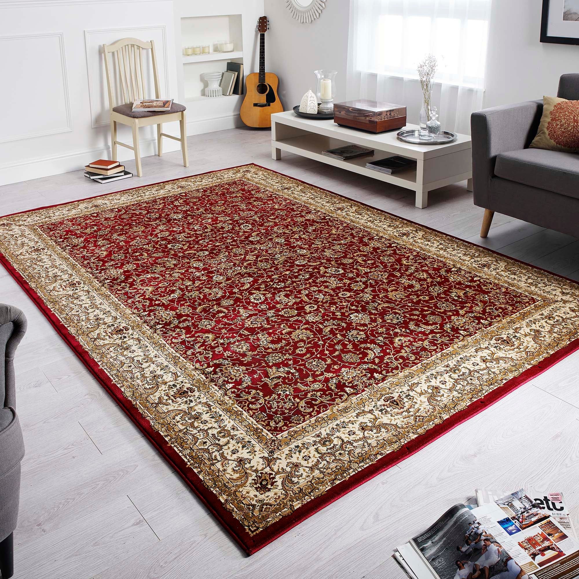 Photo of Oriental rug red