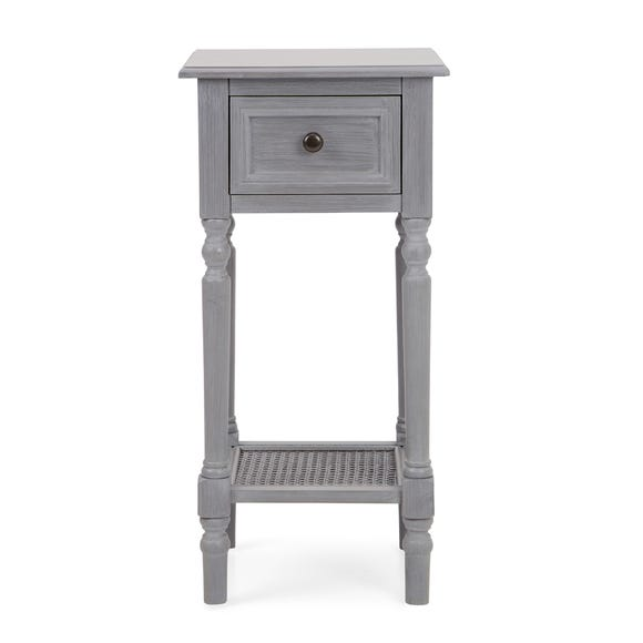 Lucy Cane Grey Telephone Table
