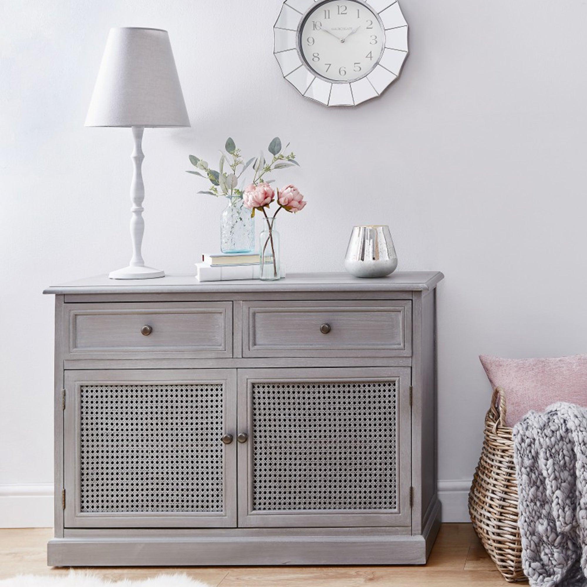 Lucy Cane Grey Small Sideboard Grey