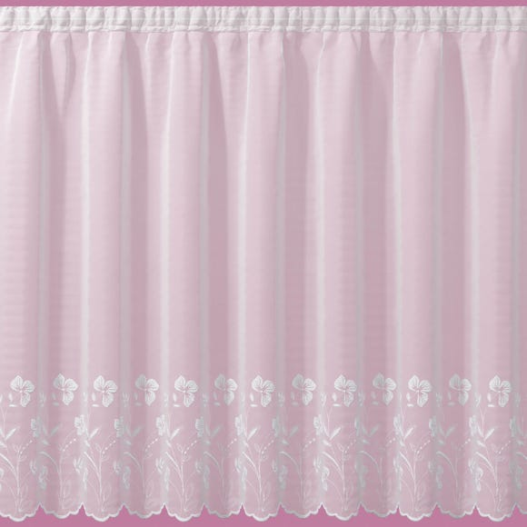 Eden Slot Top Voile Fabric White undefined