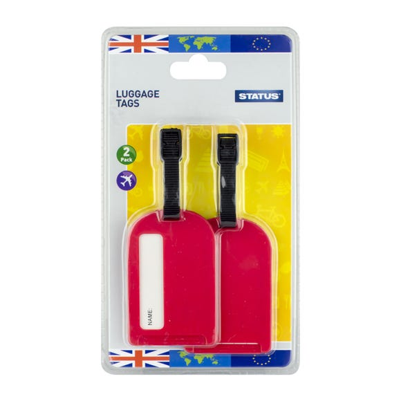 Two Pack Luggage Tags Red