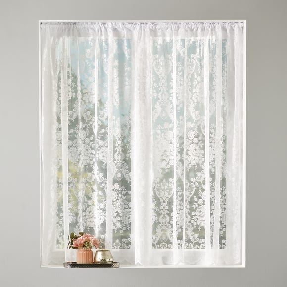 Shabby Chic Slot Top Lace Fabric  undefined