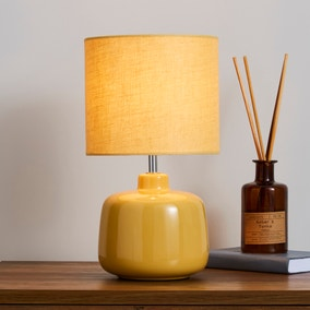 Oslo Ceramic Ochre Table Lamp