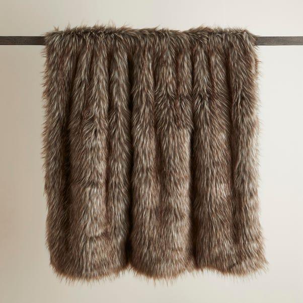 Bear Faux Fur 130cm x 180cm Throw Natural