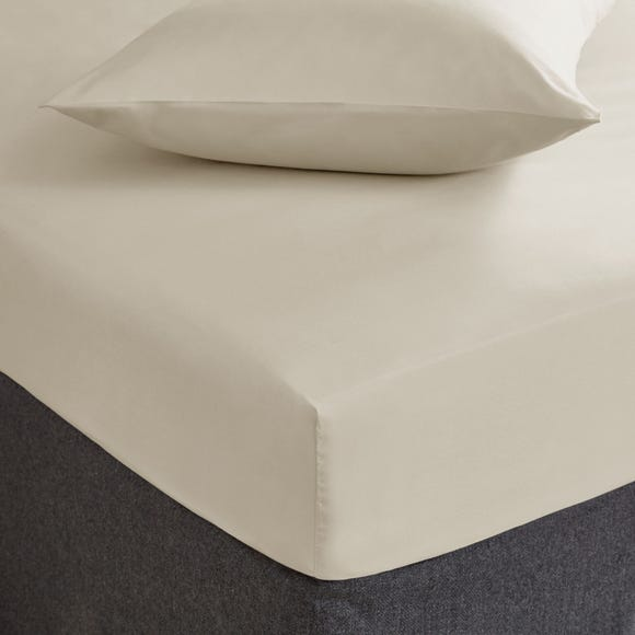 Fogarty Soft Touch Fitted Sheet Natural undefined