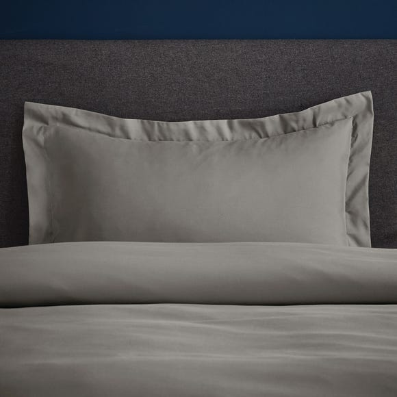 Fogarty Soft Touch Slate Grey Oxford Pillowcase