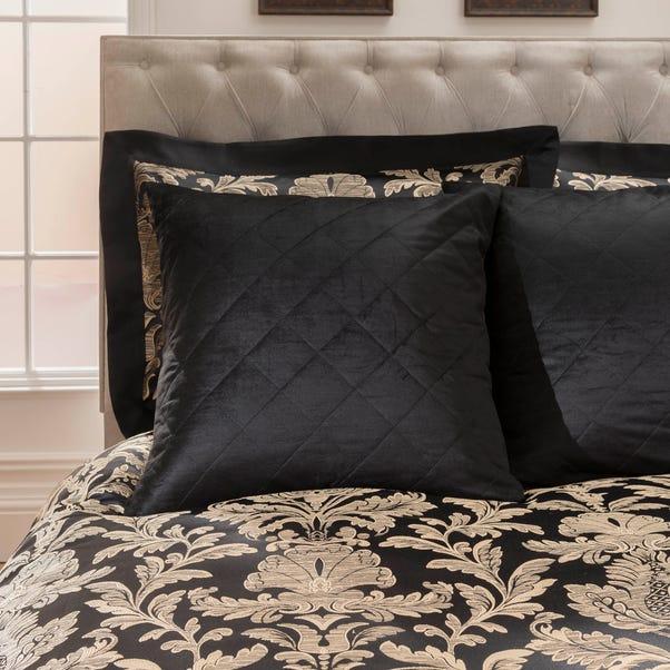 Dorma Blenheim Black Continental Square Pillowcase Black