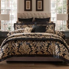 Dorma Blenheim Black Jacquard Bedspread