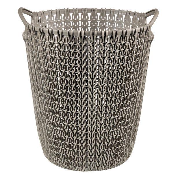 Curver Brown Knit Waste Paper Basket Brown