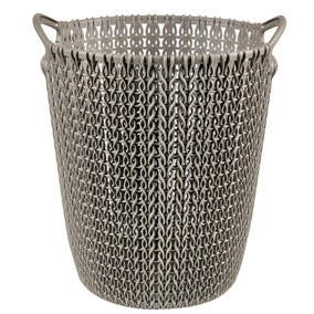 Curver Brown Knit Waste Paper Basket