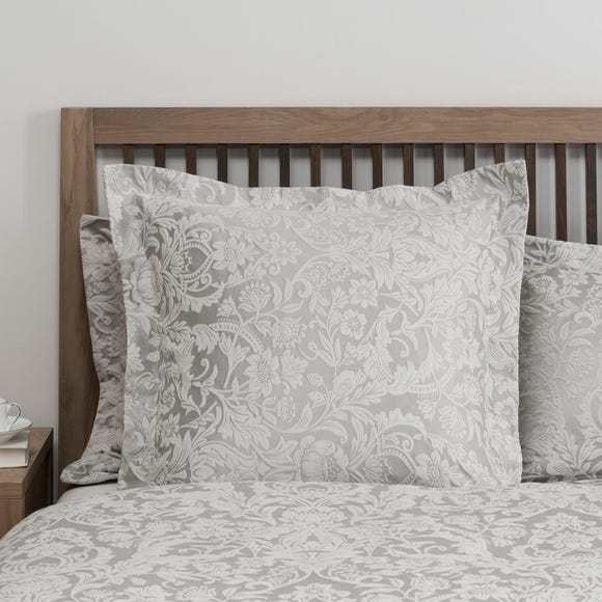 Dorma Winchester Grey Continental Square Pillowcase Grey