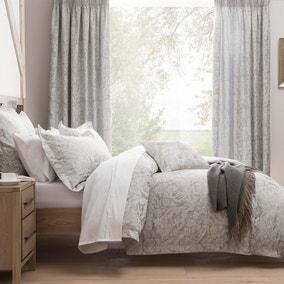 Dorma Winchester Jacquard Grey Duvet Cover