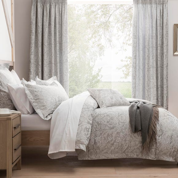 Dorma Winchester Jacquard Grey Duvet Cover Grey undefined