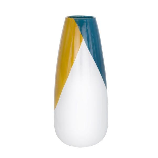 Elements Dipped Ceramic Vase MultiColoured