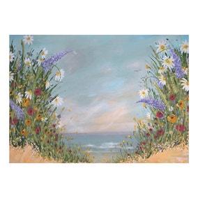 Emma Sian Pritchard Floral Beach Canvas