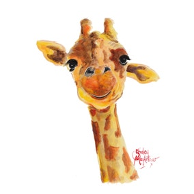 Shirley MacArthur Tommy Giraffe Canvas