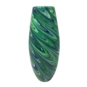 Deco Charm Peacock Glass Vase