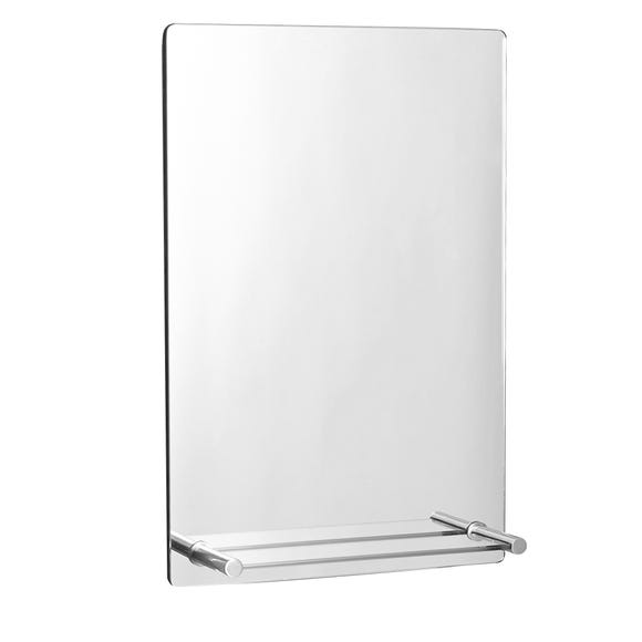 Manhattan Mirror with Shelf Silver